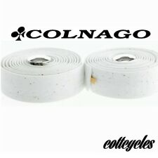 Colnago white bar tape cork road handlebar tape UK IBD boxed with end plugs