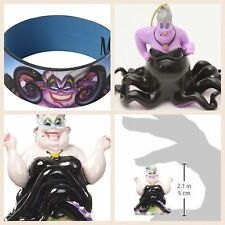 3 Items NEW Disney The Little Mermaid URSULA Ornament, Aquarium Piece, Bracelet