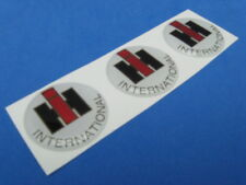 IHC INTERNATIONAL HARVESTER TRUCK DOMED DECAL EMBLEM STICKER SET OF THREE #264
