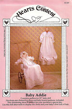 "PATTERN for A NEWBORN CHRISTENING DRESS & BABY BONNET AND 23"" BABY DOLL"