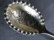 Knowles Antique American Sterling Silver Shell Spoon Raspberry Berry Jam Jelly