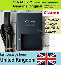 Genuino Canon charger,cb-2lxe Ion Nb-5l Ixus 800 850 860 90 950 960 970 980 990 es