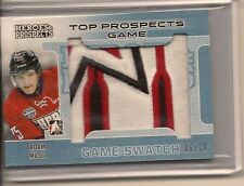 ADAM MUSIL 2014-15 ITG HEROES & PROSPECTS GAME USED JERSEY PATCH /20
