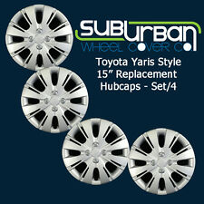 "'12-15 Toyota Yaris Style # 509-15S 15"" Replacement Hubcaps NEW LOW COST SET 4"