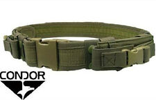 CONDOR Nylon Tactical Belt w/2 Pistol Mag Pouches tb - OLIVE DRAB OD Green