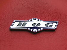 ~ HOG ~ MOTORCYCLE EMBLEM Chrome Metal Badge *NEW & UNIQUE!* HARLEY DAVIDSON