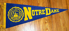 VINTAGE '70s NOTRE DAME Fighting Irish Pennant - South Bend Indiana
