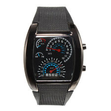 New Sports RPM Turbo Blue Flash LED Car Speedometer Meter Dial Men Gift Watch.1