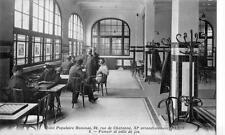 CPA 75 PARIS HOTEL POPULAIRE HOMMES RUE CHARONNE FUMOIR ET SALLE DE JEUX
