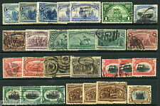 USA Early Commemorative Stamps x27 Used From old Albums - Great Condition [P310