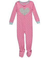 Carter's Toddler Girls Cotton  Snug Fit Sleeper Pajamas NWT 3T Pink  MSRP $20