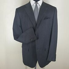 "JIL SANDER ""TAILOR MADE LINE' SUIT 3 BUTTON CENTER VENT 100% WOOL U.S. SIZE 44 L"