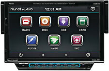 "PLANET AUDIO P9738 SINGLE-DIN CAR STEREO CD/DVD/MP3 PLAYER W/ DROP DOWN 7"" LCD"