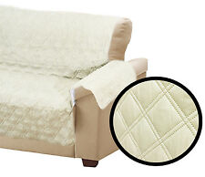 QUILTED SOFA CHAIR SETTEE ARM CHAIR PET PROTECTOR SLIP COVER FURNITURE THROW