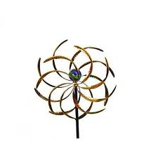 Kinetic Wind Sculpture Windmill Garden Yard Stake Decor Pinwheel Glow