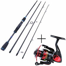 """Spinning Rod Combo 6'9"""" Graphite Spinning Fishing Rod with X3000 Spinning Reel"""
