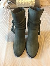 Dune Grey Suede  Boots With Tassel - UK 4