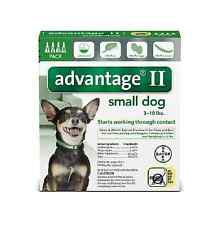 Advantage II flea control+ for Small Dogs 3-10 lbs. 4 month supply