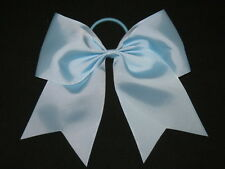 "NEW ""LIGHT BLUE"" Cheer Bow Pony Tail 3 Inch Ribbon Girls Hair Bows Cheerleading"