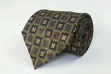JZ RICHARDS NORDSTROM Tie. Whimsical Brown w Yellow Purple Geometric Floral