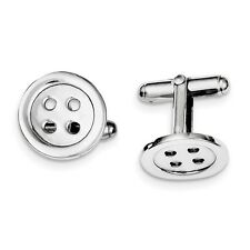 Sterling Silver Button Cuff Links. Metal Wt-7.79g