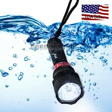 Powerful 60M Waterproof 5000 Lm CREE XM-L T6 LED Underwater Diving Flashlight