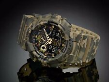 GA-100CM-5A Camouflare Casio G-shock Watches Analog Digital Resin Band 200m New
