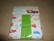 Disney Baby Cars Pack Of 3 Terry Washcloths~Green & Multi Color, NEW IN PACKAGE