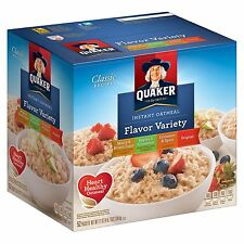 Quaker Instant Oatmeal Variety Pack - 52 Packets - Heart Healthy Whole Grains