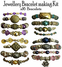 x16 Bracelet Beads Jewellery Making Kit Gift Set