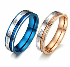Free Engraving Customer name Titanium Couple Rings in a Gift Box (A Pair)