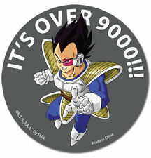 Dragon Ball Z Vegeta It's Over 9000!! Sticker DBZ Officially Licensed Funimation