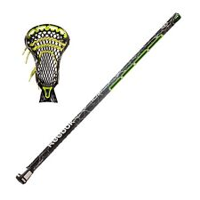 "New Reebok 10K Lax 32"" box lacrosse stick strung green Lightning shaft with head"