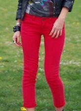 Jean slim SANDRO rouge Etat neuf peu porté T 36 T S Val 150 euros