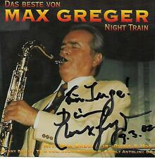 MAX GREGER Night Train Swing & Jazz Forever Das Beste von Signiert Hand-signed
