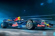 Framed Print - Red Bull F1 Race Car (Picture Poster Porsche Audi Ferrari Aston)