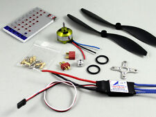 Hobbymate Rc Airplane Power Combo Motor ESC Program Card Props Plugs ParkFlyer