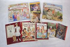 Lot of 9 American Girl Books Molly Julie Kirsten Samantha Craft Club Handbook!
