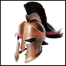 MEDIEVAL KING LEONIDAS HELMET ROMAN HELM SPARTAN 300 MOVIE HELMET W/ BLACK PLUM