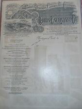 facture - pub - carrelages céramiques - année 1900 / 1920  (ref 27)