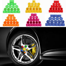 Luminous Car Silicone Wheel Nuts Bolt Covers Caps Screw Hub Protector 17mm 20pcs