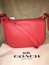 COACH PATRICIA Leather saddle bag F38247 QB/watermelon