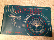 1968 Corvette Factory GM Original Owners Manual with 1/2 Corvette News Card 1/68