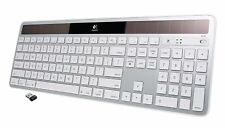 Logitech K750 Wireless Solar Keyboard for Mac White Silver 920-003472 920-003677
