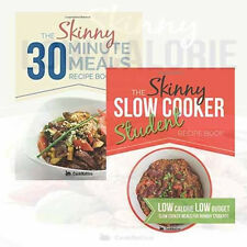 The Skinny 2 Cookbooks Collection Set By CookNation 30 Minute Meals Slow Cooker