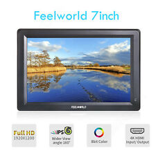 """Feelworld UHD 7"""" LCD Camera Video Field Shooting Monitor 1080P HDMI For 5D DSLR"""