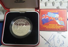 New Zealand 1993 QEII 40th Anniversary of Coronation  $5 Silver Proof