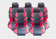 5x Sitze Autositzauflage Auflage Autositz Rot Sitzschutz Opel Zafira Tourer C