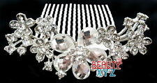 New Style big flowers pearl and crystal Hair Comb Clip Prom Wedding Accessories