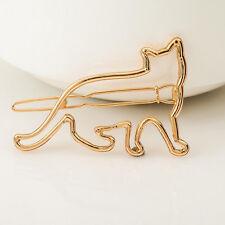 Fashion Women Gold Silver Animal Flower Hairpin Hair Clip Hair Accessories 1Pc